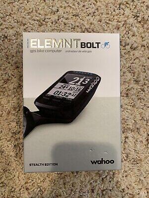 Wahoo ELEMNT BOLT GPS Bike Computer - Black