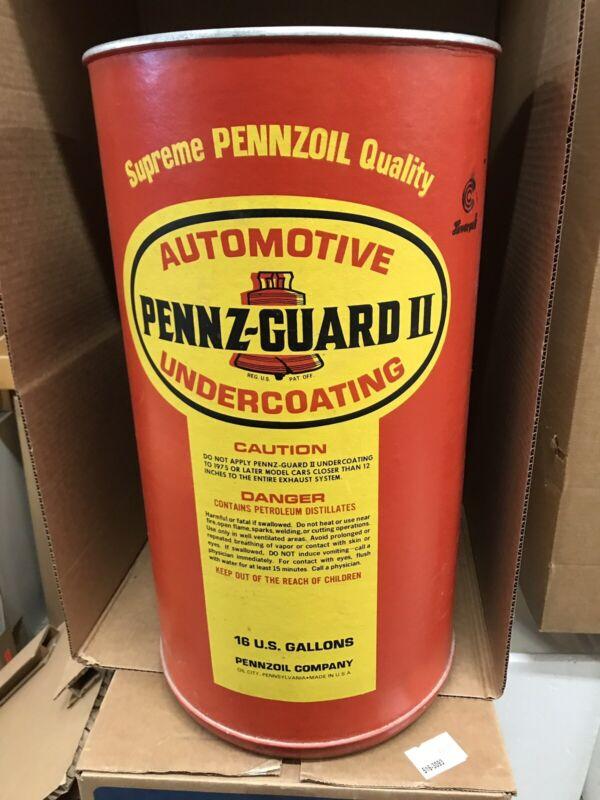 Vintage Pennzoil Pennz-Guard II Undercoating Barrel 16gal Rare