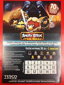 ANGRY BIRDS - STAR WARS - Polish promo FLYER - <span itemprop=availableAtOrFrom>Gdynia, Polska</span> - ANGRY BIRDS - STAR WARS - Polish promo FLYER - Gdynia, Polska