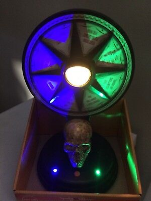 New Animated SKULL EYEBALL SPINNING MYSTIC WHEEL OF FORTUNE HAUNTED PROP - Wheel Of Fortune Halloween