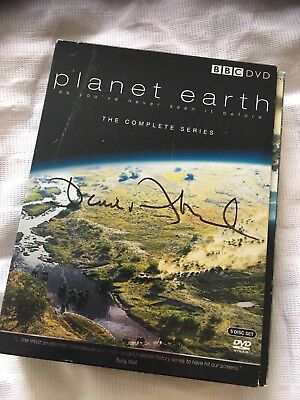 David Attenborough Hand Signed Planet Earth Dvd Box Set for sale  Macclesfield