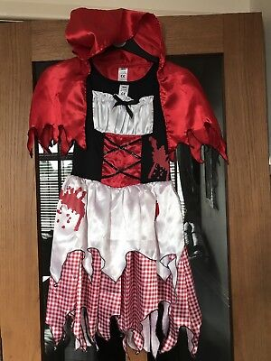 LITTLE DEAD RIDING HOOD GIRLS HALLOWEEN DRESSING UP COSTUME AGE 11-12 - Halloween Costumes For Girls Age 11-12