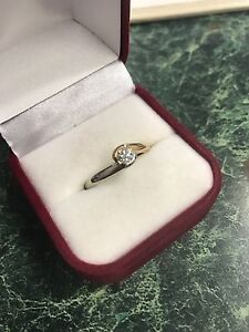 14 karat yellow gold engagement ring