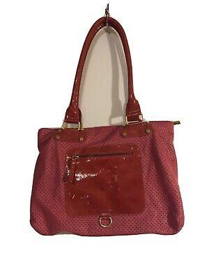INNUE ITALY Large PINK  Shoulder Hobo Tote Satchel Purse Bag Leather