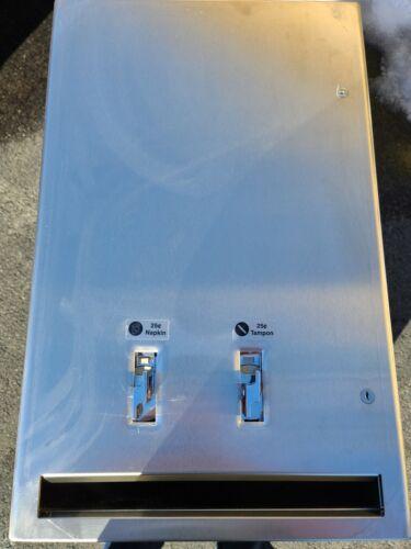 American Specialties ASI Sanitary Napkin & Tampon Dispenser 25¢ w Key