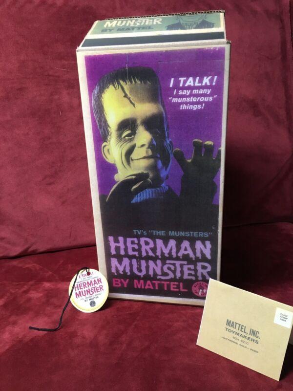 Mattel Herman Munster Reproduction Box/Tags