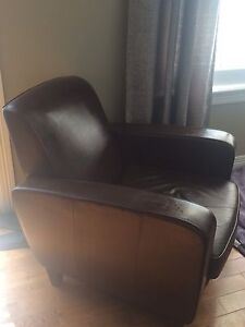 Brown Leather Chairs (2)