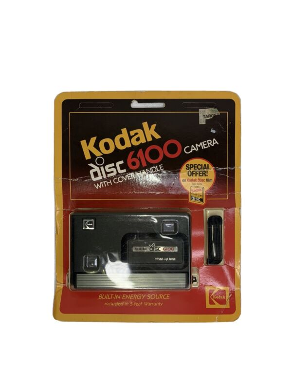 Kodak Disc 6100 Camera With Cover/handle Vintage 1984 Camera Brand New Sealed