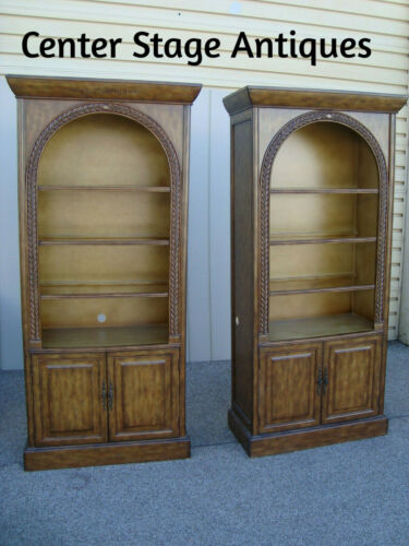 59950 Pair Decorator Bookcase Curio Cabinets