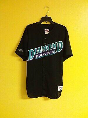 🐍⚾️  ARIZONA DIAMONDBACKS VTG 1990s MAJESTIC DIAMOND COLL. MLB JERSEY MEN -L