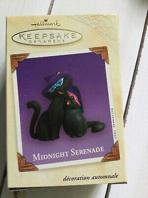 Hallmark 2003 Midnight Serenade Black Cats Halloween Ornament