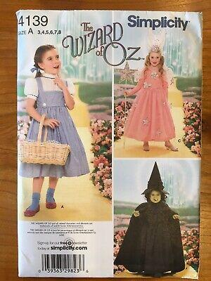 Glinda Wicked Halloween Costumes (Simplicity 4139 Halloween Pattern Wizard of Oz Dorothy Glinda Wicked Witch)