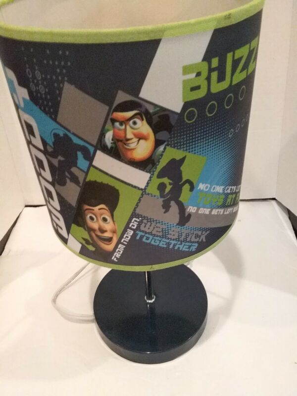 """Toy Story Woody -Buzz Lightyear Lamp Bedroom Green Blue Works 16"""" L"""