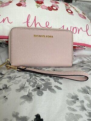 Genuine Michael Kors Light Pink Zip Purse/phoneWallet