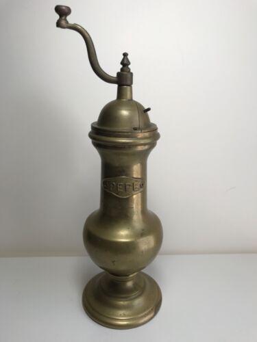 """11"""" Antique Brass Pepper Mill"""