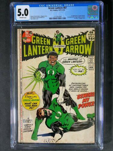 Green Lantern #87 CGC 5.0 1971 DC Comics Off-Wht Pages 2115767004