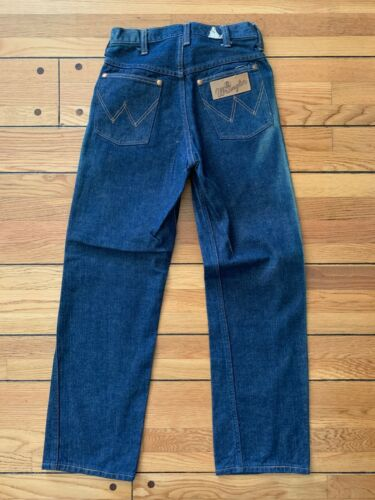 VINTAGE WRANGLER BLUE BELL YOUTH INDIGO DENIM JEANS SANFORIZED 26x28 SIZE 13