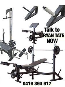 BRAND NEW Bench Press Station-FREE Bar & Weights-Ryan Tate Perth Perth City Area Preview