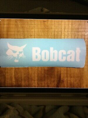 Bobcat Back Door White Decal 9 X 30 Sticker Skid Steer 751 753 763 773 7753
