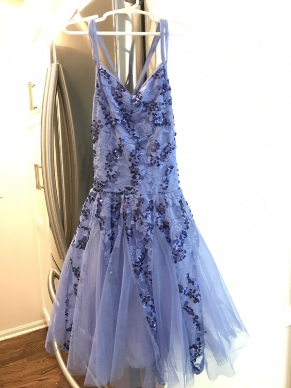 Weissman Large Child Baby Blue Lace And Sequin Balet Dress Tutu