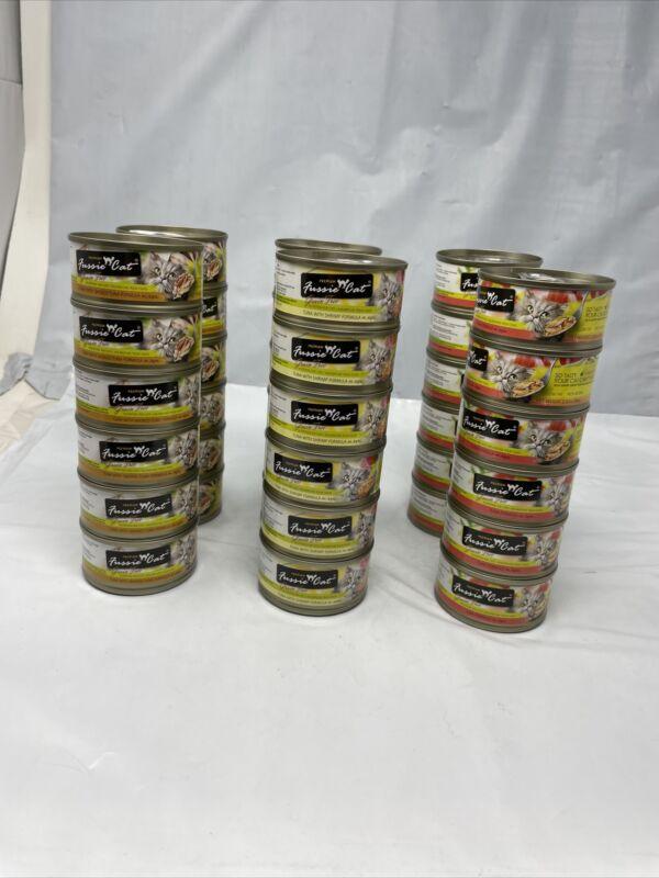 34 Pack- Fussie Cat Premium Wet Food Variety Pack 2.8 fl oz  exp is 03/22