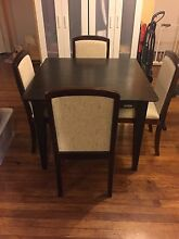 Square dining table and 4 chairs Clayton Monash Area Preview