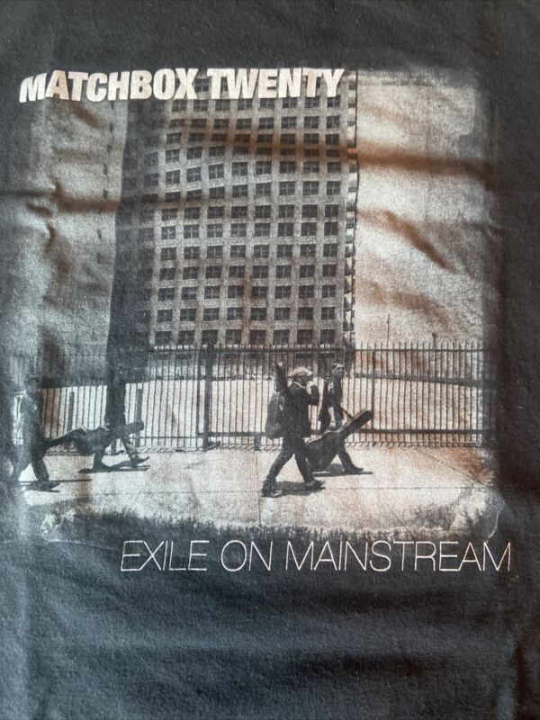 Vintage Matchbox Twenty Exile On Main Stream 2008 Tour Shirt XL Rob Thomas