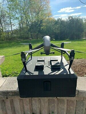 DJI Inspire 2 Quadcopter, x5s camera, 4-batteries, crystalsky monitor, backpack