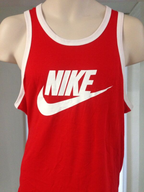 486ce6508685e Nike Ace Red Tank Top Unwashed Logo The Rock Pain   Gain Movie Sz