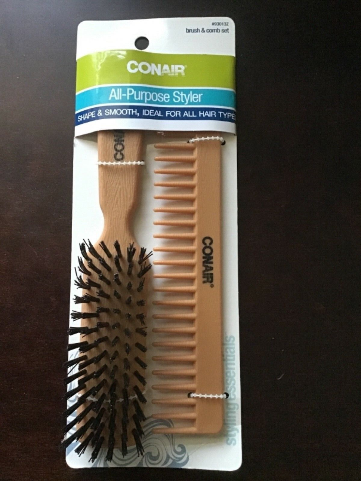 Conair Styling Essentials All Purpose Style Brush & Comb Set