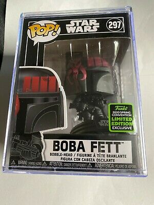 FUNKO POP STAR WARS BOBA FETT SPRING CONVENTION LIMITED EDITION IN POP STACK