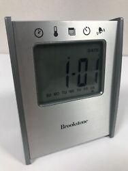Brookstone 5 in 1 Sensor Clock Time Temp Date Timer Alarm READ DESCRIPTION