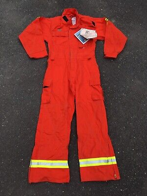 Deadstock Mfg 1998 Chieftain Firesafe Wildland Fire Fighting Coveralls Size M