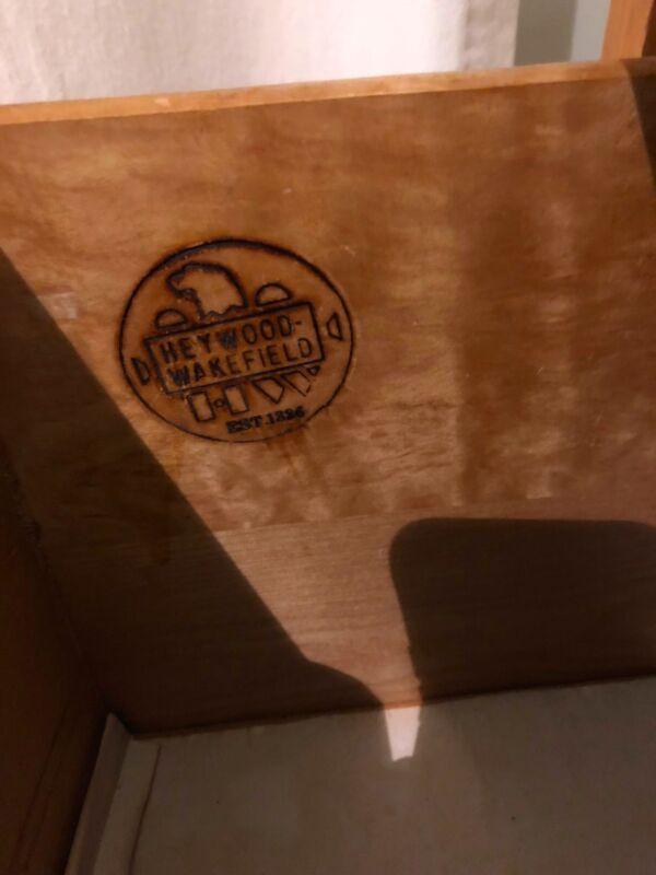 Heywood Wakefield blonde bedroom set 4 Piece good condition