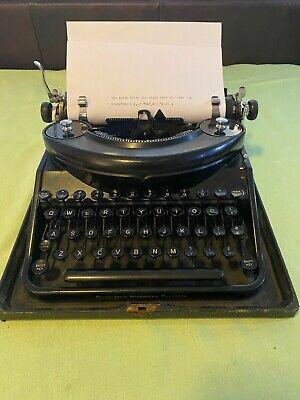 RARE SERVICED WORKING Remington Noiseless Portable Typewriter 1931 Ribbon, Case