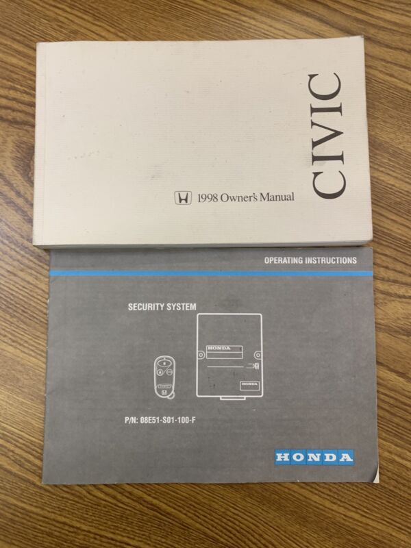 1998 Honda Civic Owners Manual & Operating Instructions Booklet