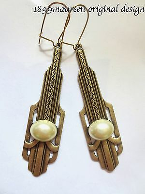 Art Deco earrings Art Nouveau pearl iconic vintage 1920s 1930s style
