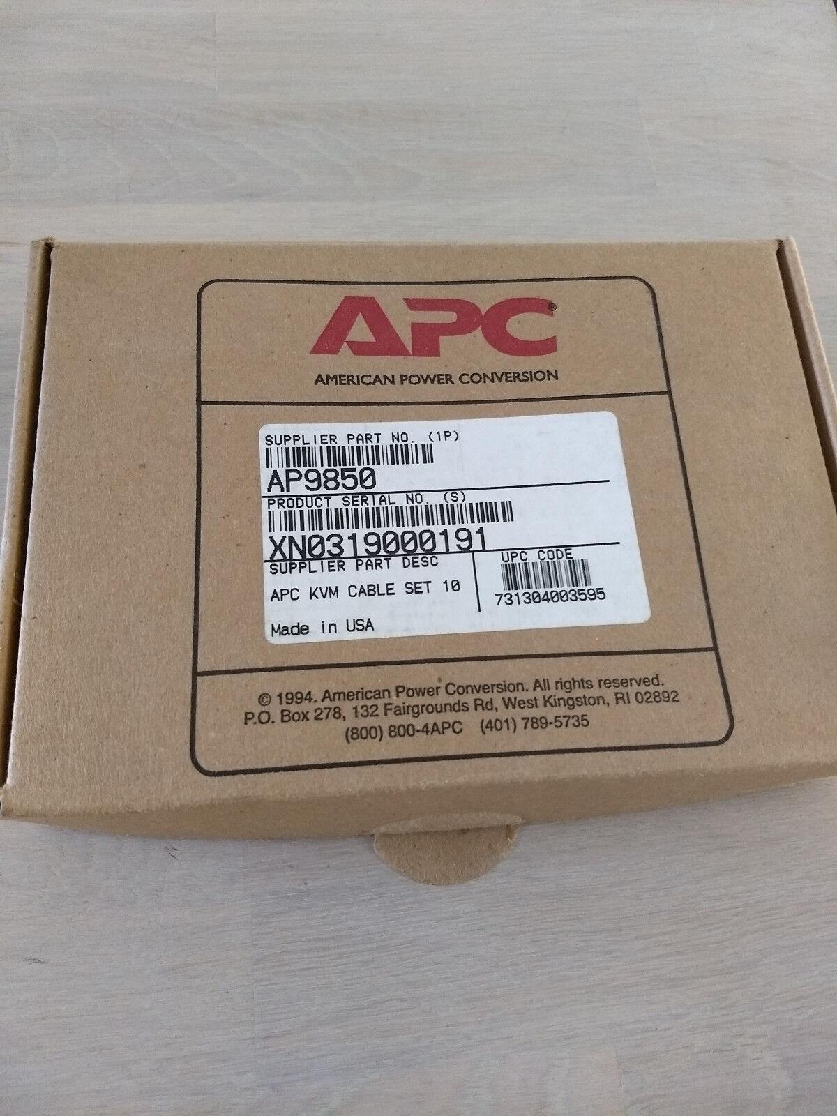 10 x APC AP9850 KVM cable set 10 foot, 10 pieces ! 10 Stucks !