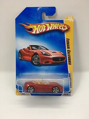 RARE HIGHLY COLLECTIBLE~ FERRARI CALIFORNIA ~ New Models Red ~ 2009 Hot Wheels