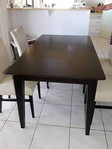 Beautiful solid timber dining table with leather chairs Scarness Fraser Coast Preview