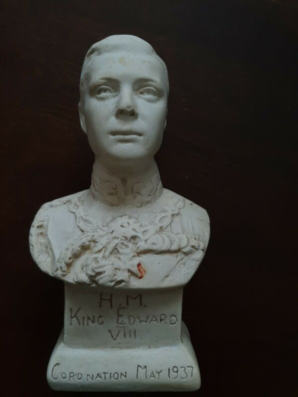 H.M King Edward VIII, Coronation 1937, Head Bust Statue