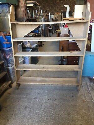 HUGE Vintage Old Pine Dresser Top Shelf Unit Shelving Rustic Farmhouse   9/12/W
