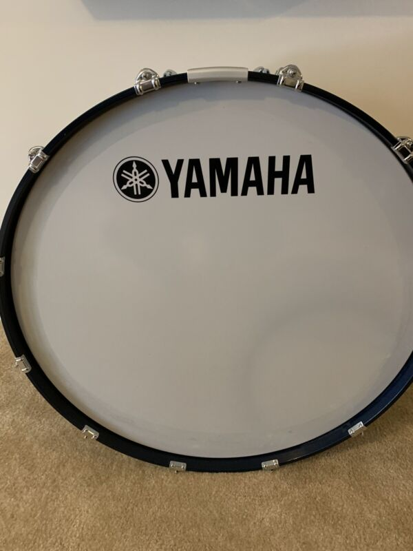 """Yamaha 32"""" Field Corps Marching Bass Drum-Blue Forest"""