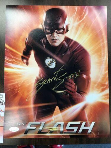 The Flash Grant Gustin Autographed Signed 11x14 Photo JSA COA #3 Full Name