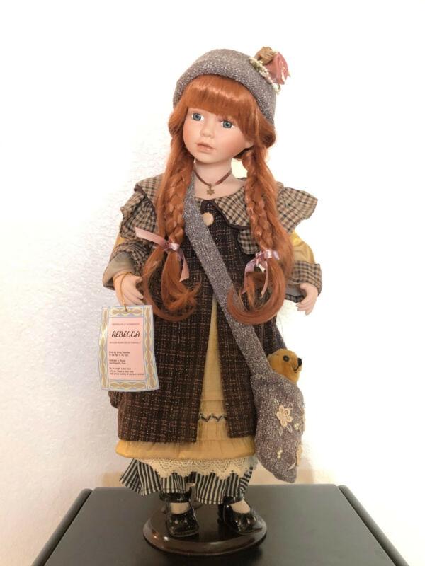 Rebecca Ellis Island Collection Fine Porcelain Vintage Girl Doll