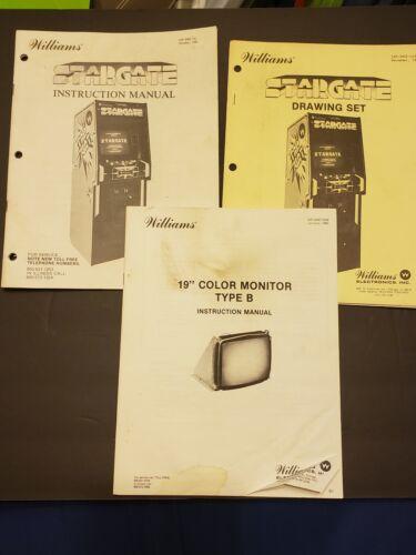 Original 1981 Stargate Arcade Game Instruction Manual Schematics Full Set