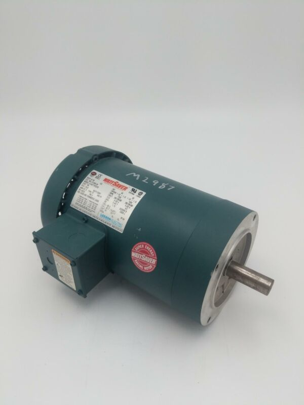 Leeson 1.5 HP, 1750/1450 RPM, 145TC Frame Electrical Motor