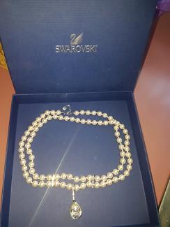 Swarovski pearl necklace & crystal pendant. Adelaide CBD Adelaide City Preview