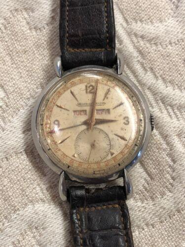 Jaeger LeCoultre Vintage Triple Date Calendar Mens Watch For Restoration/Repair - watch picture 1