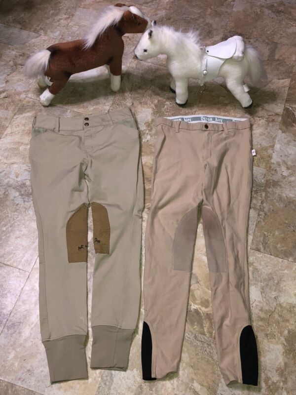 Girls Equestrian riding pants Breeches Equine Couture Coolmax & Devon Aire Low